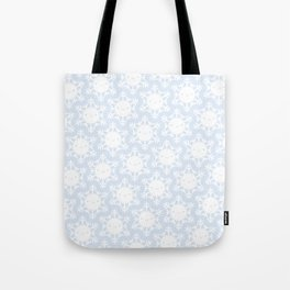 Kawaii Winter Snowflakes Tote Bag