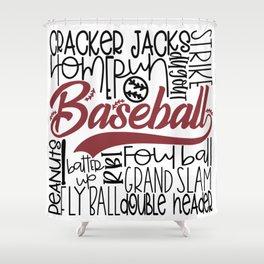 Baseball Typo Shower Curtain