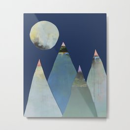 Moons and Mountains Metal Print