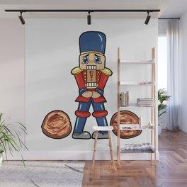Nutcracker Christmas gift present Hazelnut Wall Mural