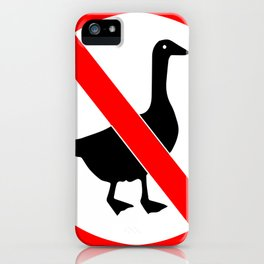 No Goose Untitled Funny Video Game Design iPhone Case