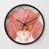 buffy Wall Clocks featuring Melted Buffy by MissyandFriends