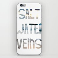 salt water iPhone & iPod Skins featuring Salt Water Veins by Lacey Hilliard