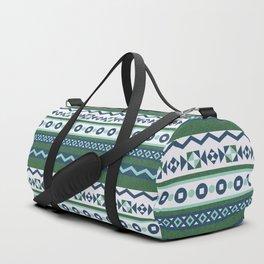 Traditional Geometric-Green Duffle Bag