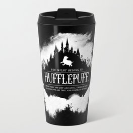 Hufflepuff B&W Travel Mug