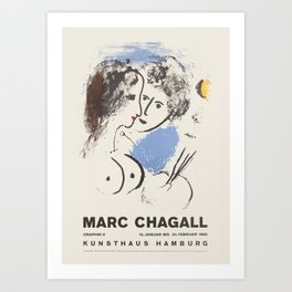 Marc Chagall - Exhibition poster Art Print