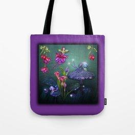 Beautiful Fuchsia Faerie Garden Tote Bag