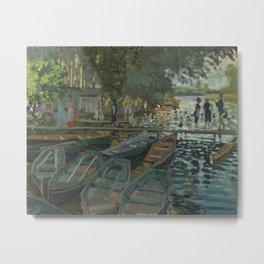 Claude Monet - Bathers at La Grenouillère Metal Print