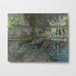 Claude Monet - Bathers at La Grenouillère Metal Print