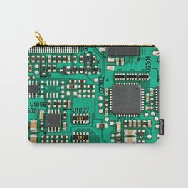 Electronic circuit board with processor Carry-All Pouch