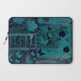 butterflies_I turquoise Laptop Sleeve