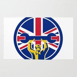 British Mechanic Union Jack Flag Icon Rug