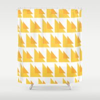 orange pattern Shower Curtains featuring Orange Pattern by MarianaLage