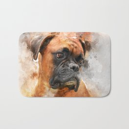 Boxer Dog Thinking Bath Mat