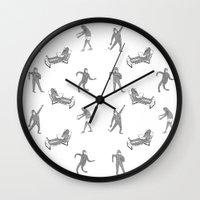 secret life Wall Clocks featuring The Secret Life of Bigfoot by Ann Pickard