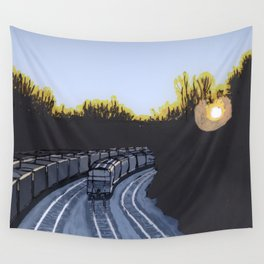 Trains Wall Tapestry