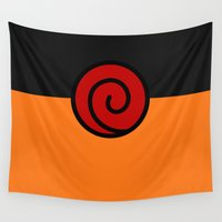 naruto Wall Tapestries featuring NARUTO SUIT by Bilqis