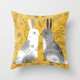 NOSE TO NOSE Throw Pillow