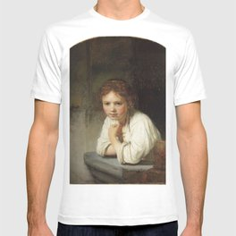 Rembrandt - Girl at a Window T-shirt