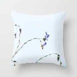 Blue Flax highkey SOOC by CheyAnne Sexton Throw Pillow