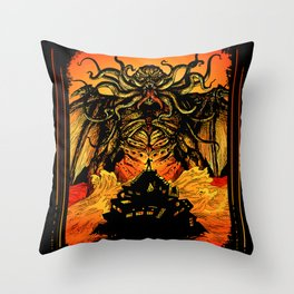 Winged God Monster Throw Pillow
