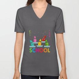 School Pens Gift Idea Design Motif Unisex V-Neck