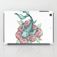 koi fish iPad Cases featuring Koi Fish by Bare Wolfe