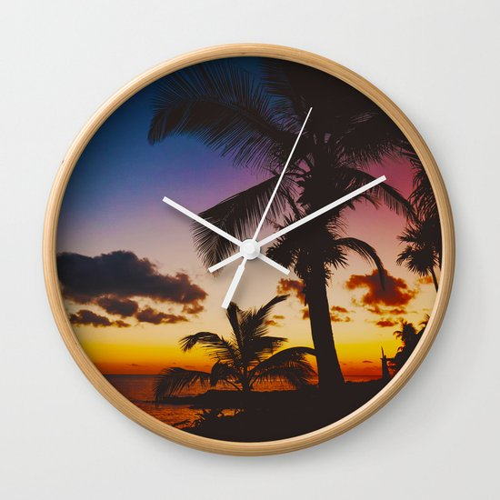 Palm Spring Wall Clock