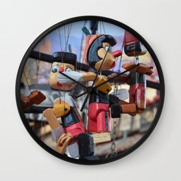Wooden Pinocchio Wall Clock