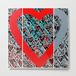 heart a plenty times 3 Metal Print