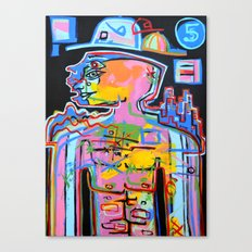 Jimmy Five Hats Canvas Print