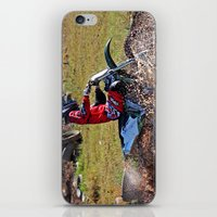 moto iPhone & iPod Skins featuring Moto Cross by Lone Wolf Photography