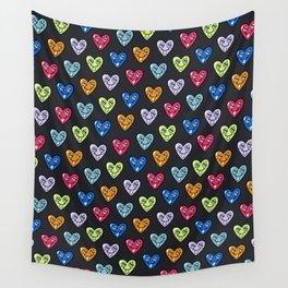 LOVE HEARTS Wall Tapestry