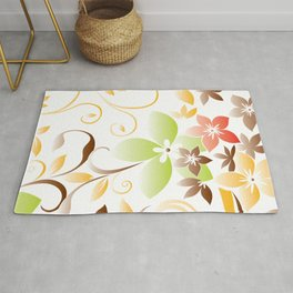 Flowers wall paper 5 Rug