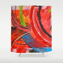 IBIZA - colorful abstract painting Shower Curtain