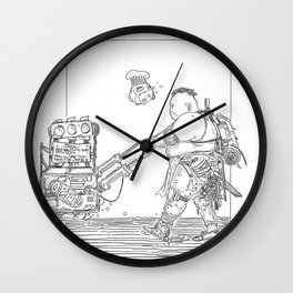 Big Wasteland Taco Bub Wall Clock