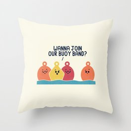 Buoy Band Throw Pillow