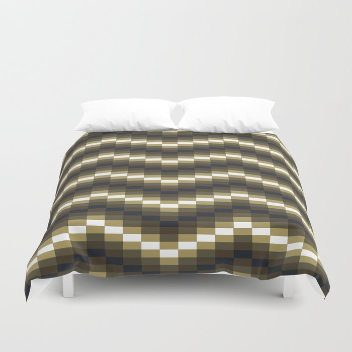 Block Wave Illustration Artwork Duvet Cover