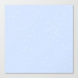 white and blue speckle Canvas Print