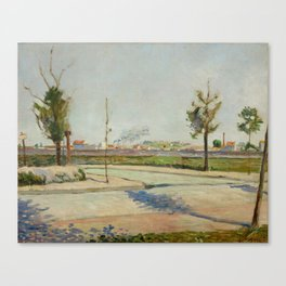 Road to Gennevilliers Canvas Print
