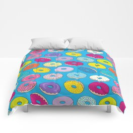 Donuts In The Sky By Everett Co Comforters