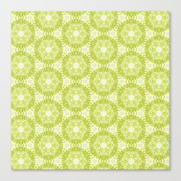 Marigold Kaleidoscope Olive Green Canvas Print