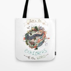 Let's Be Explorers  Tote Bag