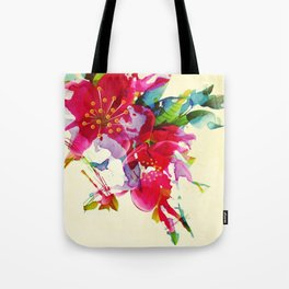 exploded floral Tote Bag