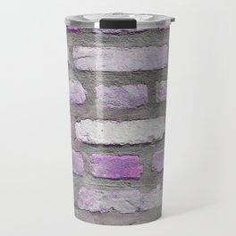 Venetian Bricks in Pink and Lavender Travel Mug