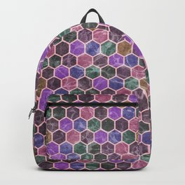 Colorful Hexagon Seamless Pattern #02 Backpack