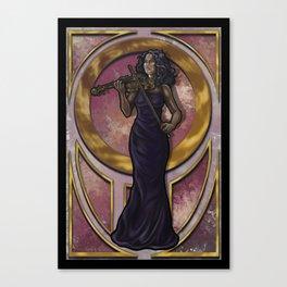 Art Nouveau Violinist Canvas Print