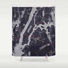 New York City Monochrome Shower Curtain