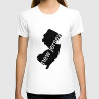 new jersey T-shirts featuring New Jersey by Isabel Moreno-Garcia