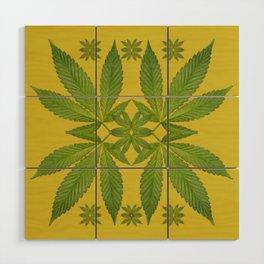 Marijuana Leaf Pattern Wood Wall Art